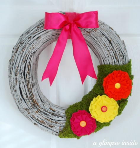 summer loving wreath- complete
